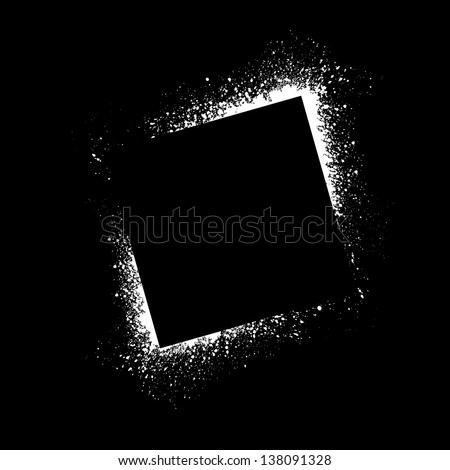 Square spray paint blots. eps10 - stock vector