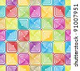 Square tiles seamless pattern, colorful vector background. - stock vector