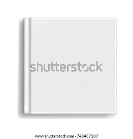 Square Vector Blank Realistic Book Closed Stock Vector 748487209 ...