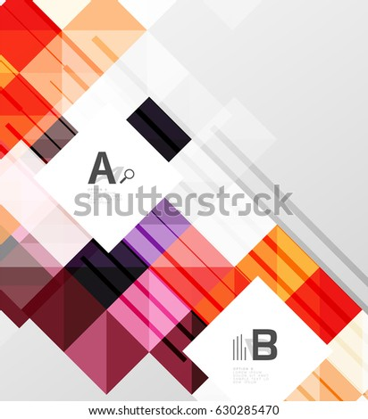 Square vector modern abstract background letter stock vector hd square vector modern abstract background with letter option infographics sample text thecheapjerseys Image collections