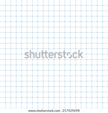 Squared paper, seamless illustration. Vector. - stock vector