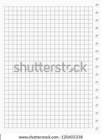 Squared paper sheet background - stock vector