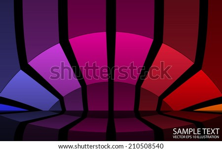 Squared  scene vector background  illustration - Reflected  vector  rainbow color background template - stock vector