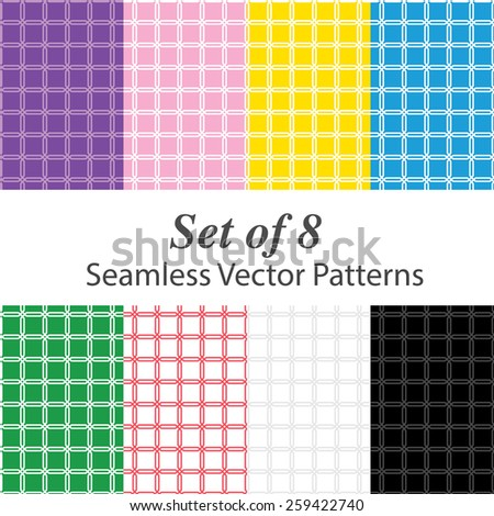 Squared stylish seamless background in vector - stock vector