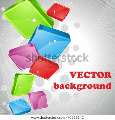 Squares. Geometric vector. - stock vector