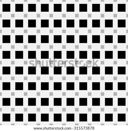 Squares seamlessly repeatable pattern in black and white. Vector illustration
