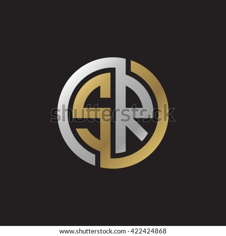 Letter Circle Monogram Template on