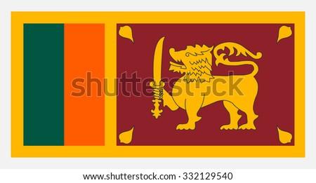 Sri Lanka flag - stock vector
