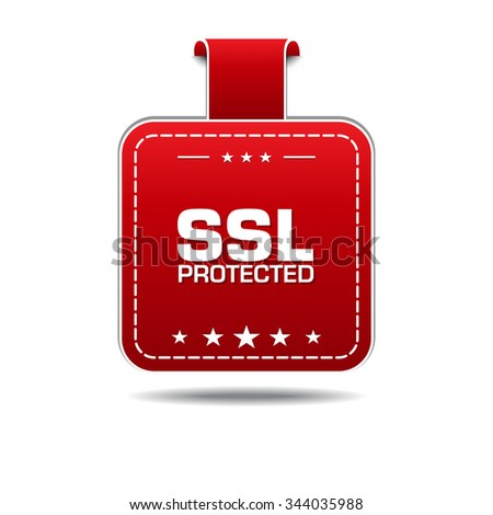 SSL Protected Red Vector Icon Design