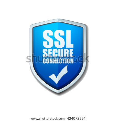 SSL Secure Connection - stock vector