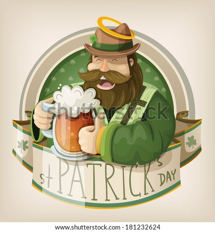 St Patrick day card - stock vector