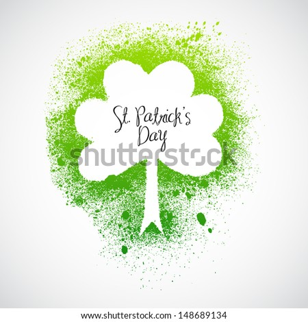 St Patrick Day grunge frame - stock vector