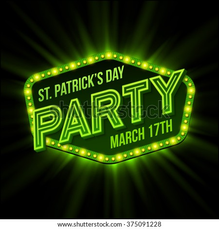 St. Patrick Day poster. Vector illustration EPS10 - stock vector