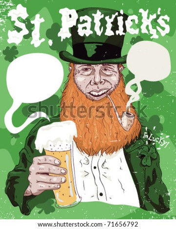 St. Patrick ideal poster. - stock vector