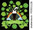 St.Patrick's card - stock vector