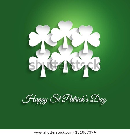 St Patrick's day background - stock vector