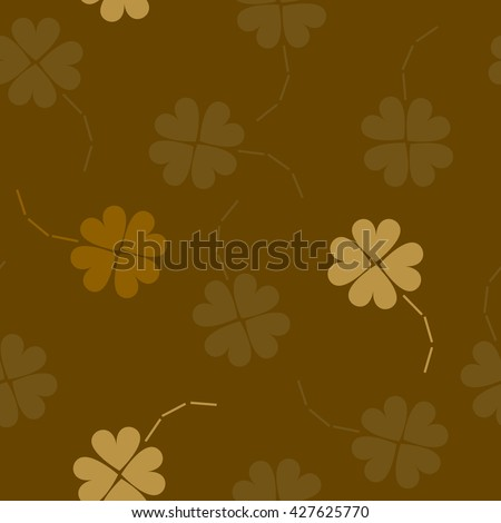 St. Patrick's day background in different colors. Seamless pattern. Vector illustration. Irish shamrock leaves background for Happy St. Patrick's Day. EPS 10.