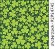 St. Patrick's day background in green colors. Seamless pattern. Vector illustration. - stock photo