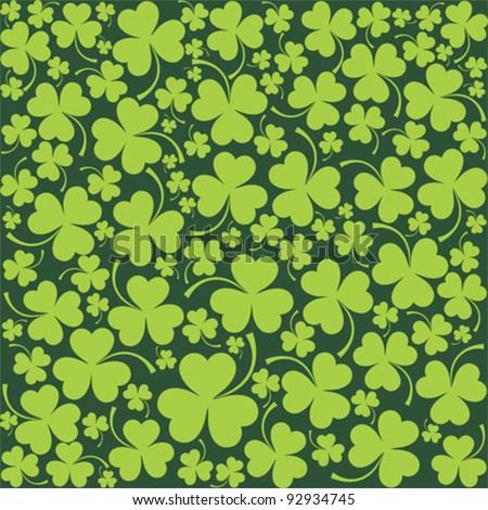 St. Patrick's day background in green colors. Seamless pattern. Vector illustration. - stock vector