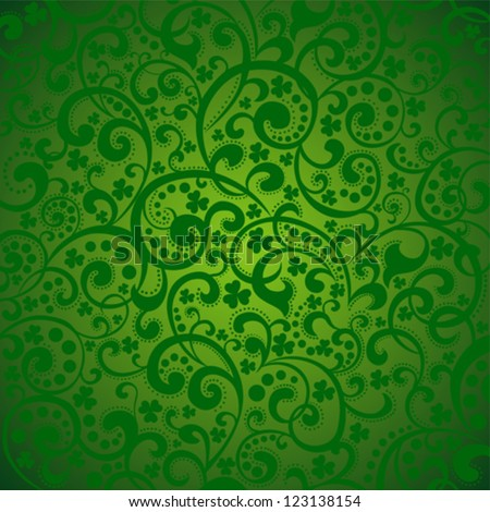 St. Patrick's day background in green colors. Vector illustration. - stock vector