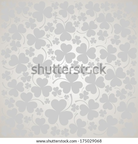 St. Patrick's day background in grey colors. Seamless pattern. Vector illustration.  - stock vector