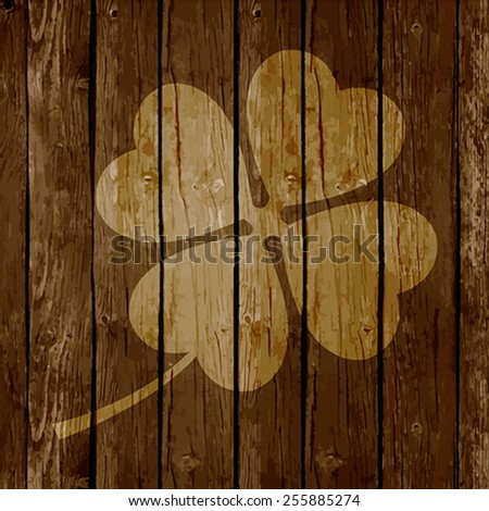 St. Patrick`s Day Background or Card on Wooden Background. - stock vector