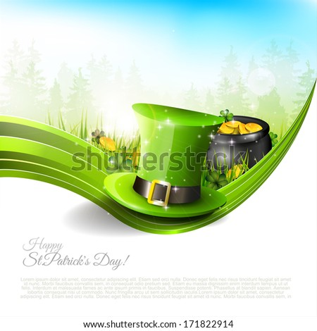 St Patrick's Day - background with copyspace  - stock vector