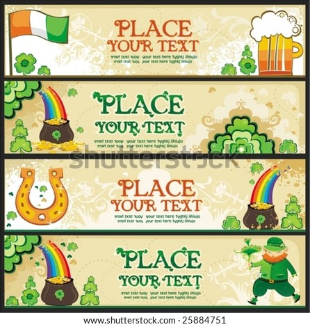St. Patrick's Day banners with copy space. To see similar, please VISIT MY GALLERY. - stock vector