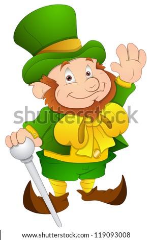 St. Patrick's Day - Cartoon Character- Vector Illustration - stock vector