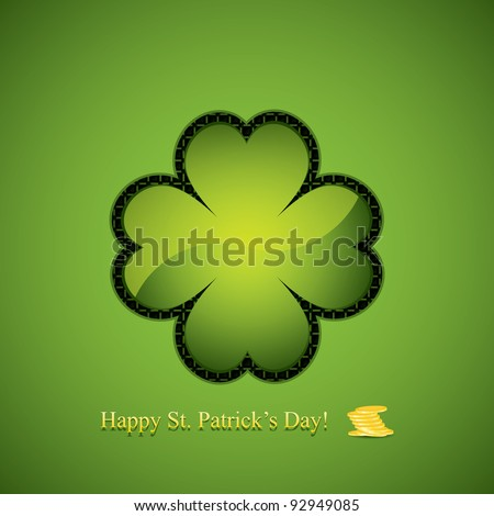 St. Patrick's Day design - button - stock vector