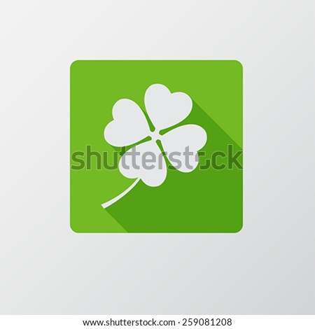 St. Patrick`s Day flat icon. Flat design. - stock vector
