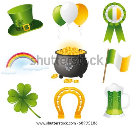 St. Patrick`s day icon. Vector - stock vector