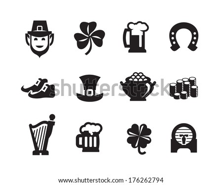 St. Patrick's Day icons.Vector format - stock vector