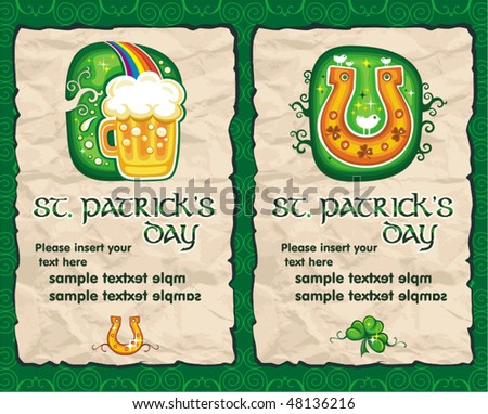 St. Patrick's Day paper backgrounds series 2 - stock vector