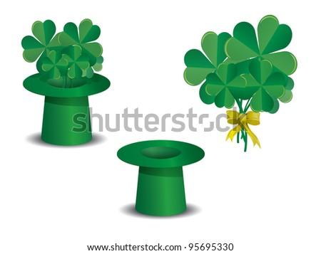 St. Patrick's day set - stock vector