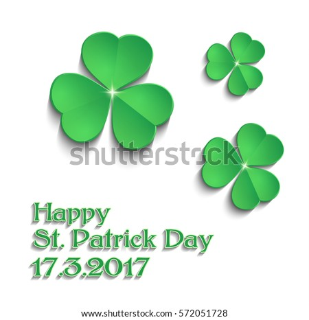 Shamrock stock images royalty free images vectors shutterstock sttricks day shamrock green text vector voltagebd Images