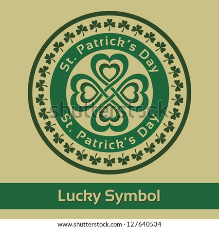 St. Patrick's Day. Stamp Lucky symbol. Vector illustration EPS10 - stock vector