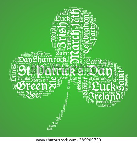 St. Patrick's Day - Three Leaf Clover Background
