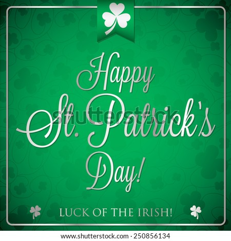 St. Patrick's Day typographic card in vector format - stock vector