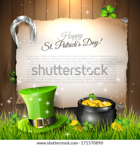St. Patrick's Day - vector background with copyspace  - stock vector