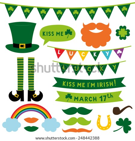 St. Patrick's Day vector design elements set  - stock vector