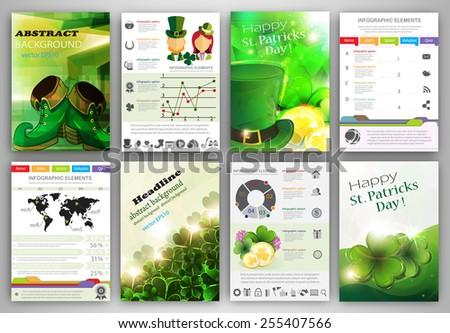 St Patricks Day Vector Set Flyer Vector de stock255407566: Shutterstock