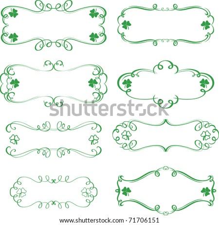 St.Patrick's Frames - stock vector
