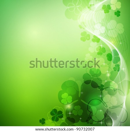 St. Patrick's glowing abstract background - stock vector