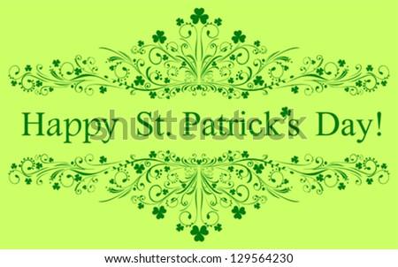 St. Patrick's greeting card. Vector Illustration - stock vector