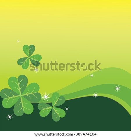 St. Patricks day with clover for background  - stock vector