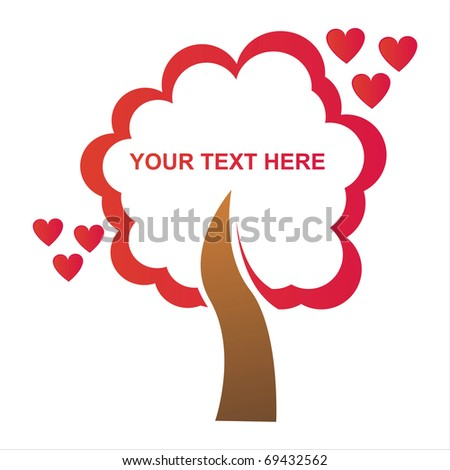 st. valentine's day tree frame