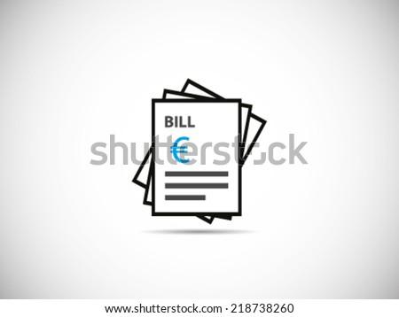 Stack Of Bills Euro - stock vector