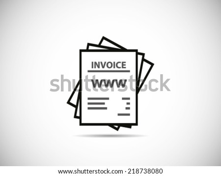 Stack Of Bills Internet - stock vector