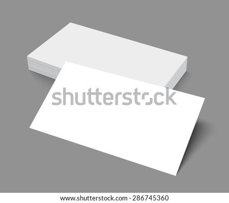 Stack blank empty business card isolated stock vector 2018 stack of blank empty business card isolated on gray background with soft shadows vector illustration reheart Images